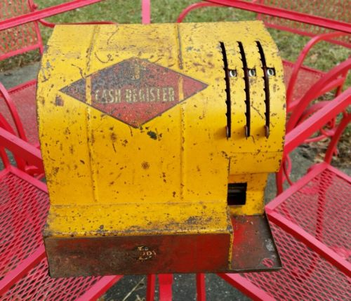 Rare 1930s Buddy L Heavy Steel Cash Register Toy from Big Truck Era