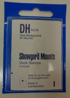 Showgard size DH52/36 black hingeless stamp mount NEW unopened pack duck stamp