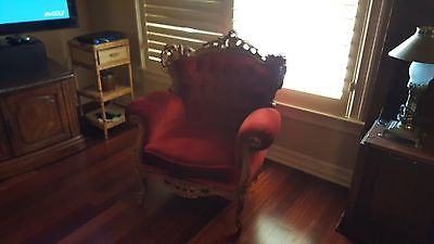 Early 20th Century Upholstered Arm Chair