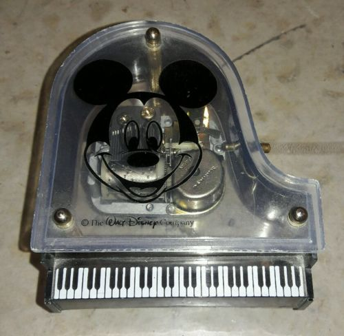 Vintage Mickey Mouse Winding Piano Musical