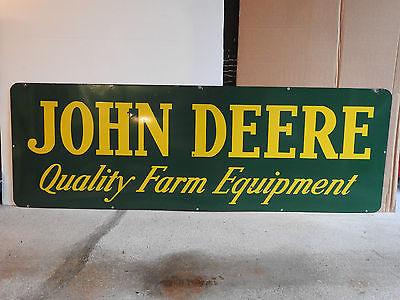 JOHN DEERE TRACTOR QUALITY FARM EQUIPTMENT PORCELAIN SIGN NEAR MINT