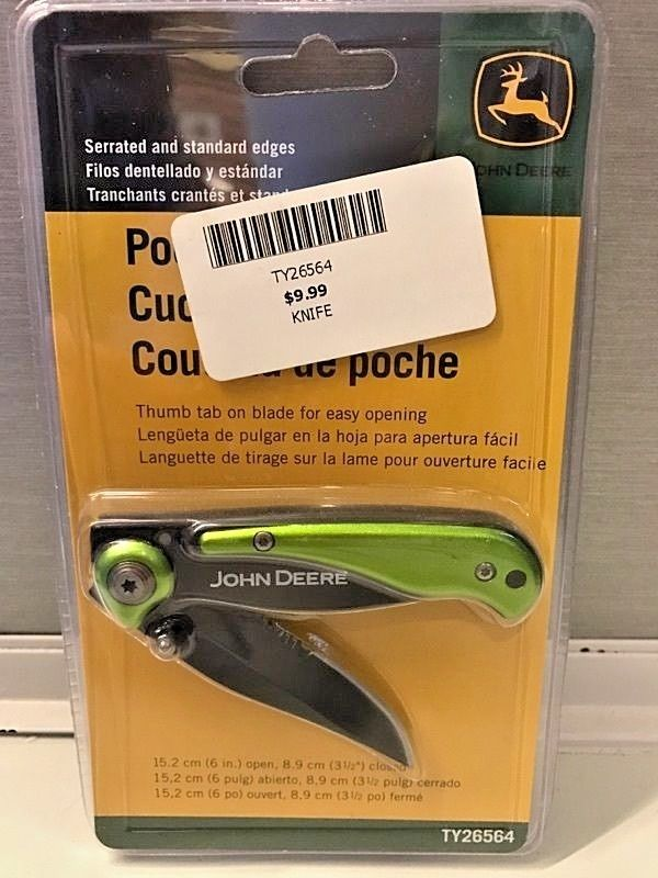 JOHN DEERE POCKET KNIFE # TY26564 NA