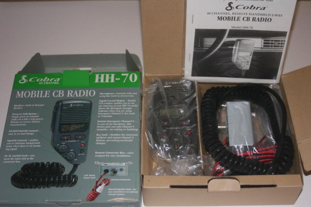 Cobra 40 Channel Hh-70 Mobile Cb Radio