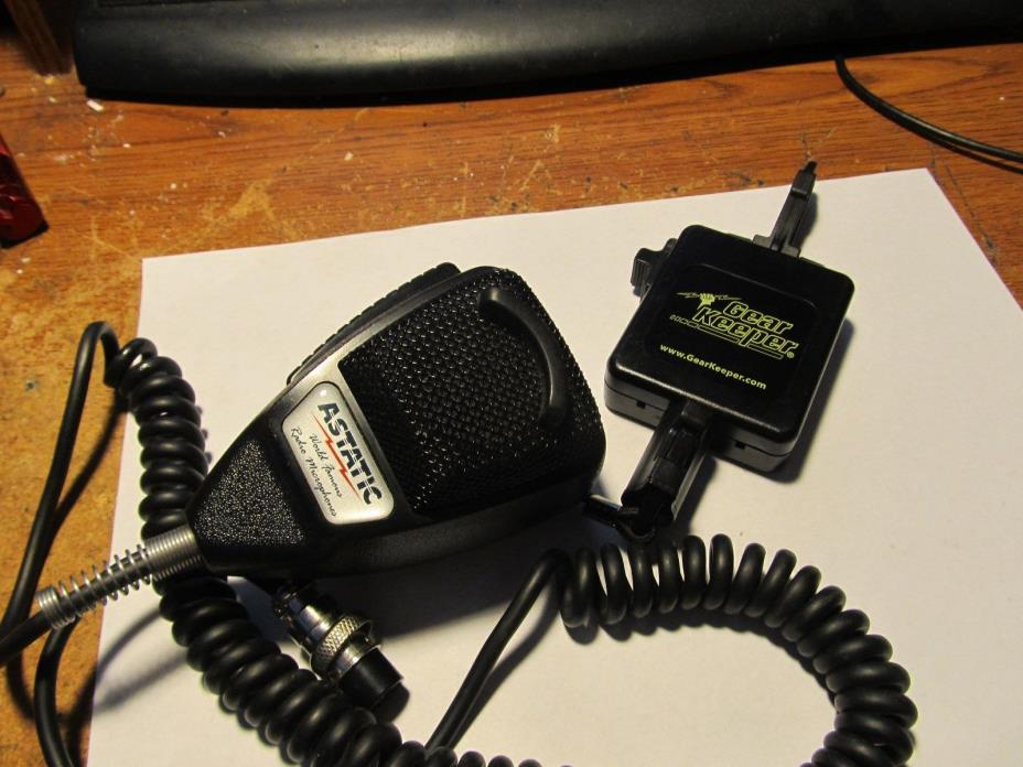 ASTATIC 636L MICROPHONE WITH GEAR KEEPER
