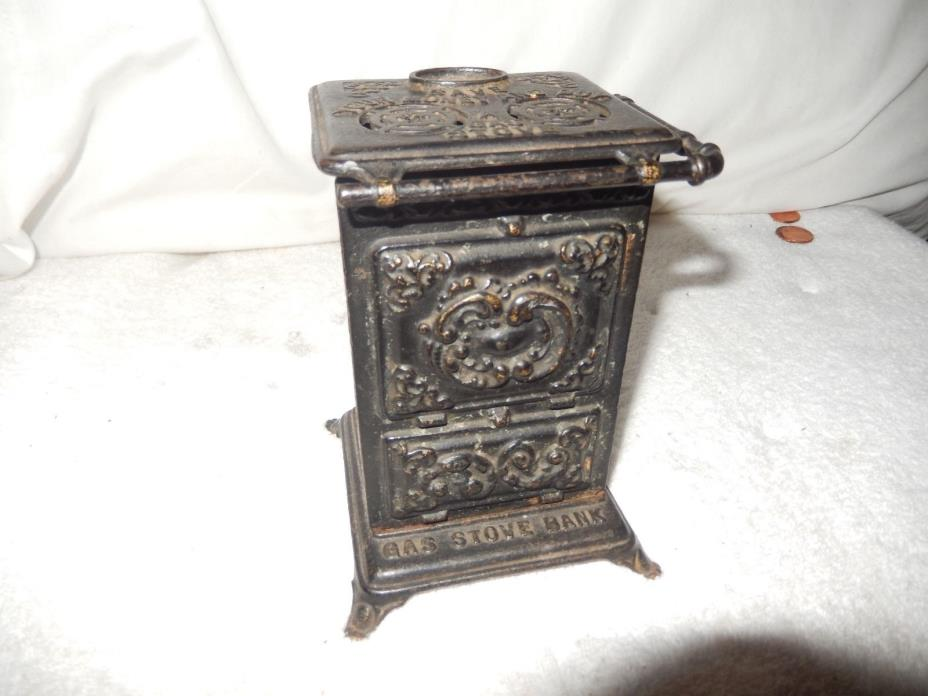 1901 GAS STOVE CAST IRON & SHEET METAL ANTIQUE BANK, S. BERNSTEIN CO., NYC
