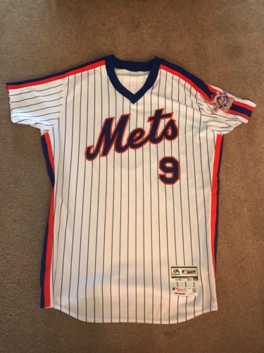 Roger Bernadina 2016 Team Issued NY Mets 1986 Throwback Jersey - Patch - MLB