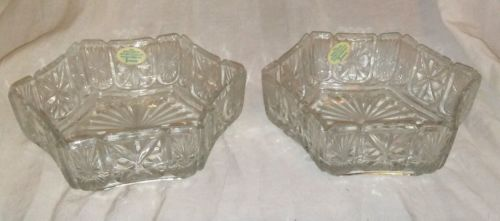 Set of Vintage Avon Hexagonal Candy Dishes