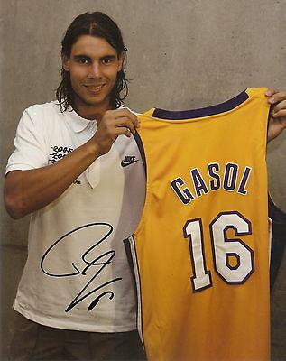 RAFAEL NADAL Signed *SPAIN - PAU GASOL* 8X10 Photo W/Coa *AWESOME*