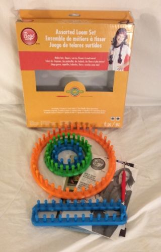 Boye Round Loom Set - Make hats, booties, scarfs and more...pre owned