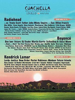 Coachella Music Festival Tickets 04/14/17 (Indio) With Shuttle Pass