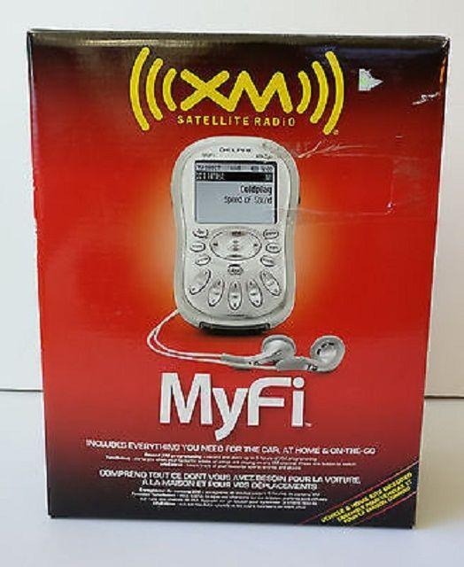 Delphi Myfi Personal Portable XM Satellite receiver, free three mo activation. W