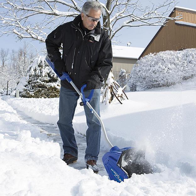 Cordless Brushless Snow Shovel Battery Operated Home Blower Sidewalk New Light