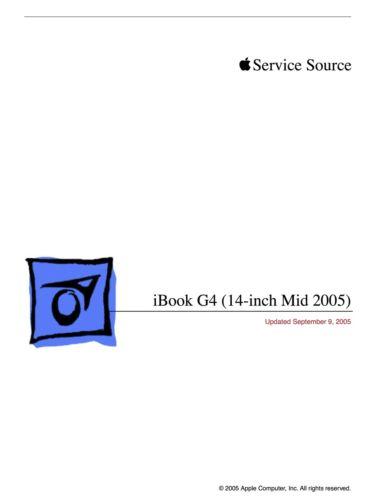 Apple Technician Service .PDF Manual for Apple iBook G4 (14