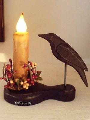 Primitive Crow Holder & 4