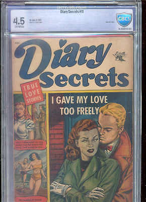 DIARY SECRETS 11 CBCS 4.5 ( Rare Matt Baker cover /art !  Only 3 CGC higher !)