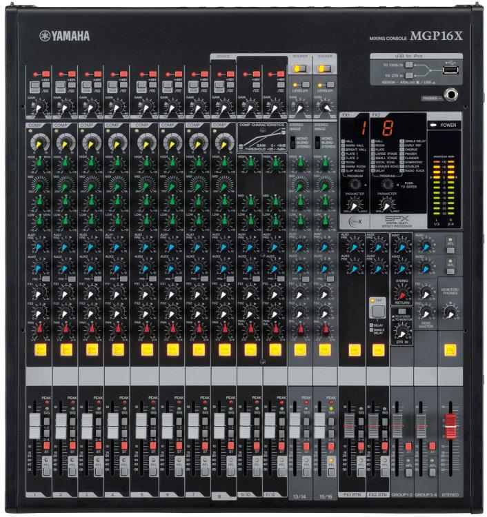 Yamaha MGP16X 16-Channel Mixer with Effects, 4-Bus Mixer, NEW, *Factory Sealed*