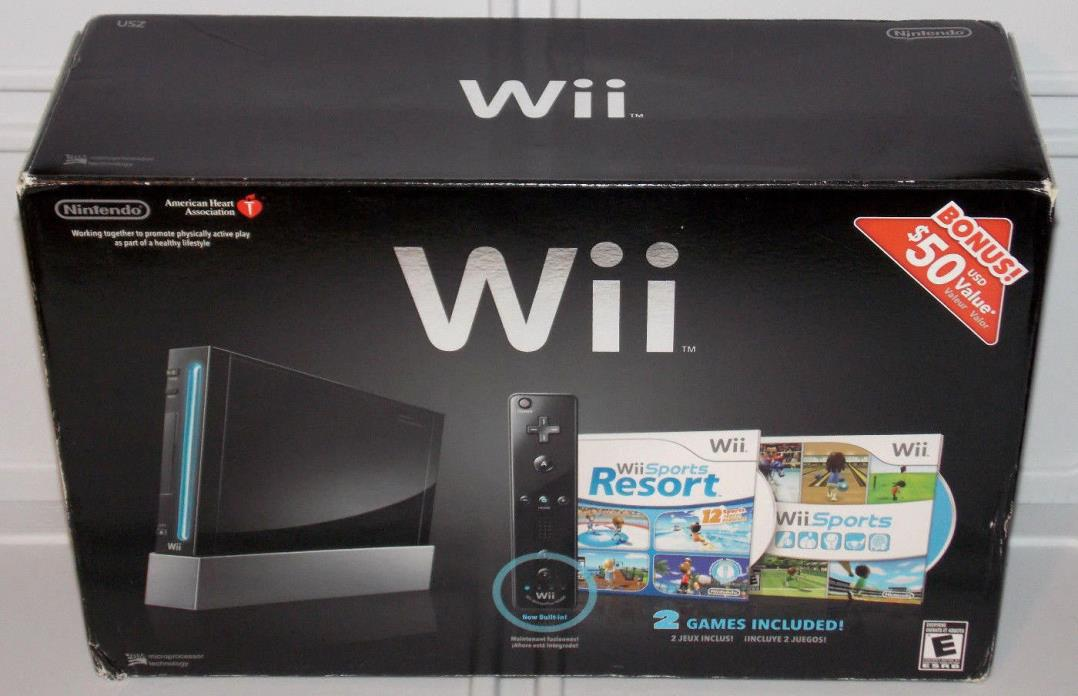 Nintendo Wii Empty Replacement Retail Box + Inserts Sports Resort ~NO CONSOLE~