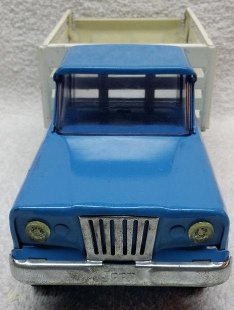 Vintage Pressed Steel Tonka Jeep Stake Farm Truck