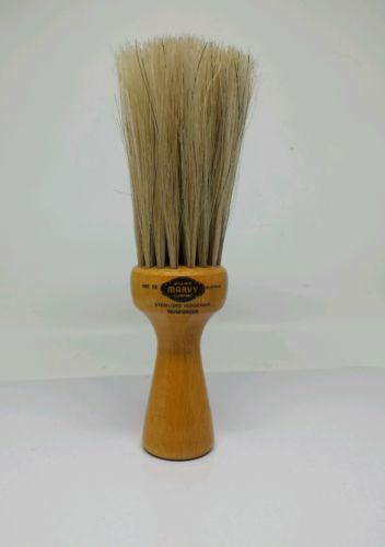 WILLIAM MARVY STAND UP #53 HORSEHAIR BARBER SHOP  WOOD NECK DUSTER