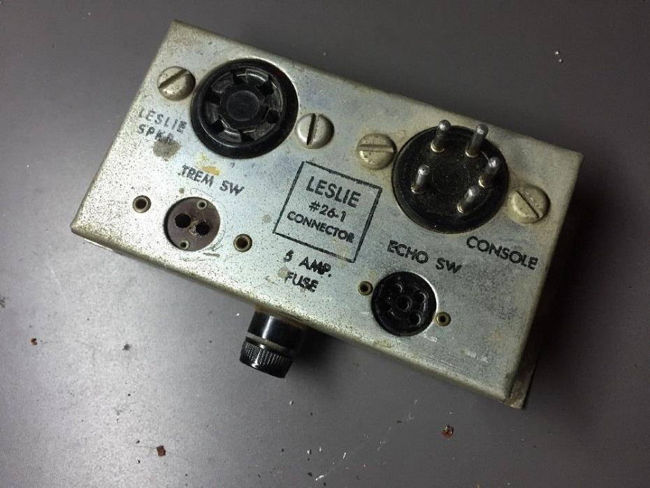 Leslie 26-1 connector kit box Hammond organ for 145/147 ++