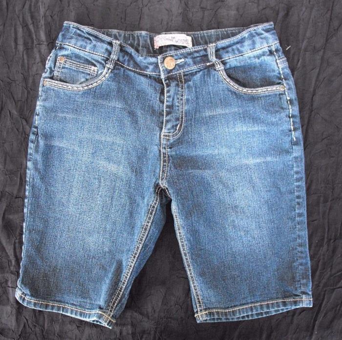 Wallflower Girls Bermuda Jean Shorts Size 16 Stretch Denim