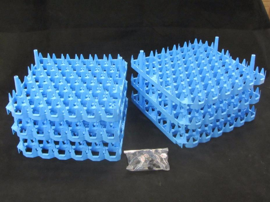 NEW REFURB| set of 6 Plastic Chicken Egg trays for Cabinet Incubator | U195