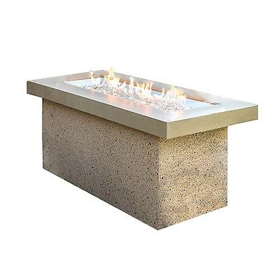 Outdoor Greatroom Key Largo Fire Pit with Brown Top and Serengeti Base, New