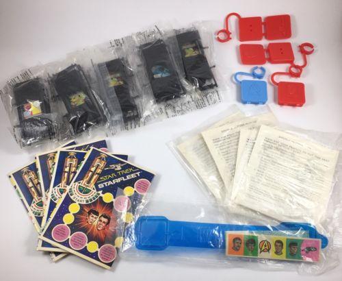 1979 McDonald's Star Trek Toy Lot Game Board, Iron-On, Rings, Video Communicator