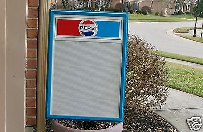 VINTAGE PEPSI ADVERTISING PLASTIC MENU SIGN BOARD