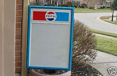 VINTAGE PEPSI ADVERTISING PLASTIC MENU SIGN BOARD