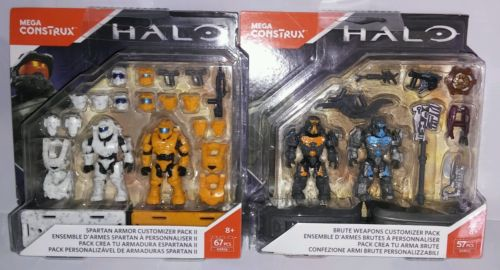 2 HALO Mega Contrux Spartan Armor & Brute Weapons Customizer Pack FREE SHIPPING