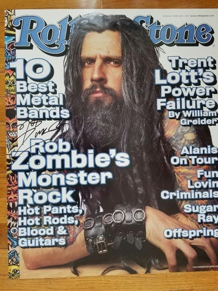 Rob Zombie Rare Autographed Rolling Stone Poster