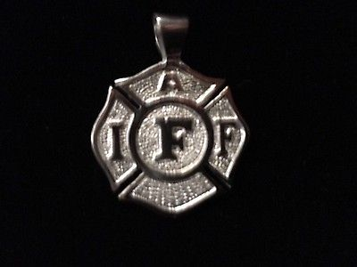 Firefighter Jewelry IAFF Malteses Cross, Sterling Silver
