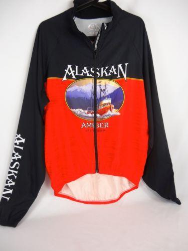 Primal Wear ALASKAN AMBER ALE Men's Cycling Jacket full zip red Sz. Extra Large