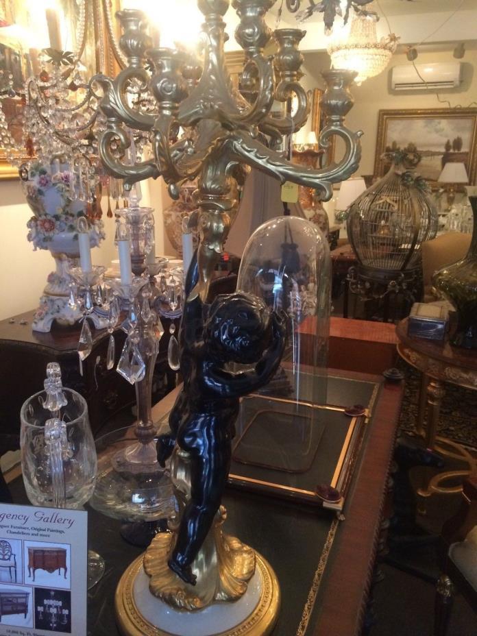 Capodimonte Porcelain Candelabras and Pedestals