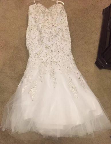 Mermaid Wedding Dress Rhinestone Sweetheart Bling Bridal Gowns++