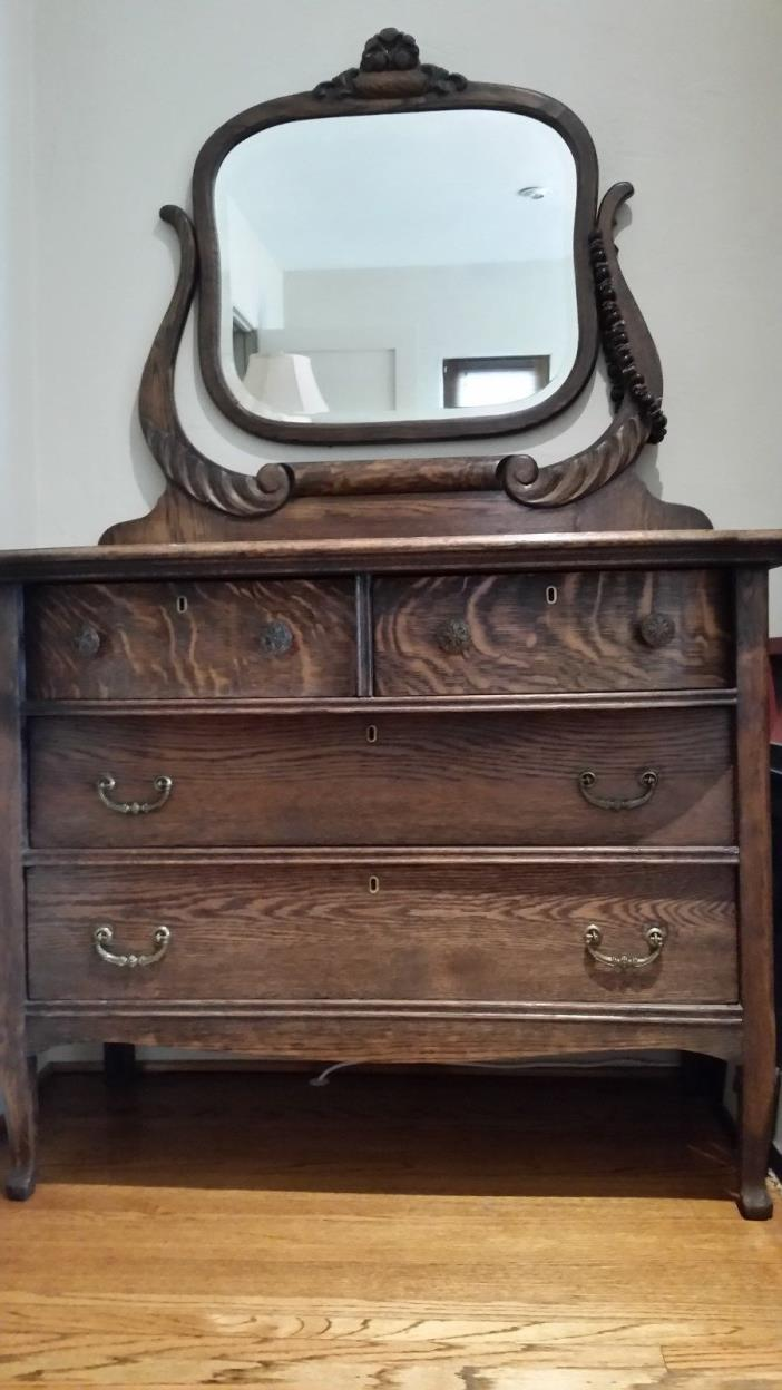 Antique Oak Dresser With Mirror For Sale Classifieds