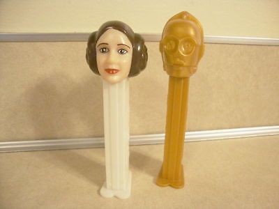 Collectible Star Wars Pez Carrie Fishers Princess Leia & C3PO Candy Dispensers!