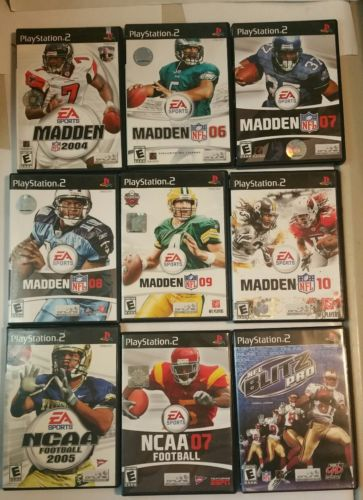 sony playstation 2 ps2 game lot FAST FREE SHIPPING rare madden NFL ncaa football
