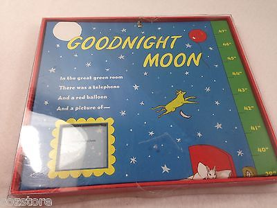 Goodnight Moon Photo growth Chart Newborn Hardcover Wall Picture Frame