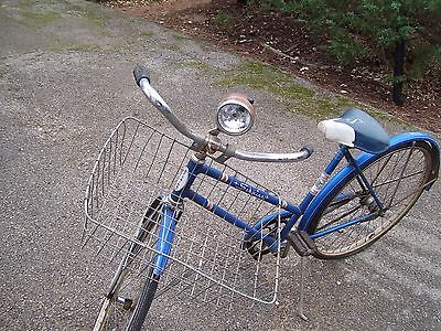 VINTAGE SCHWINN RACER WITH BASKET AND LIGHT