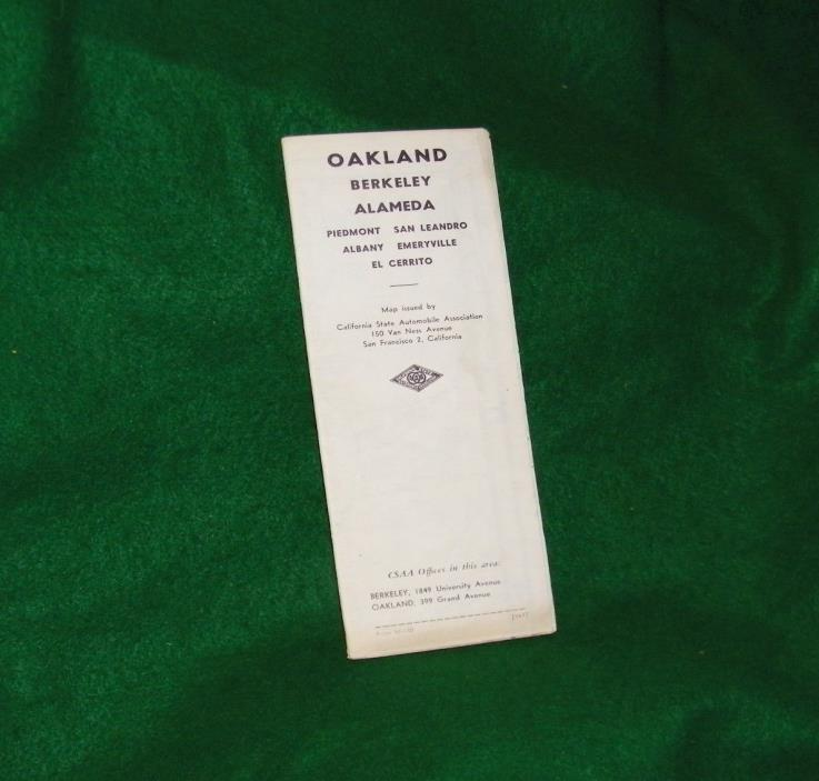 old map of OAKLAND BERKELEY ALAMEDA California