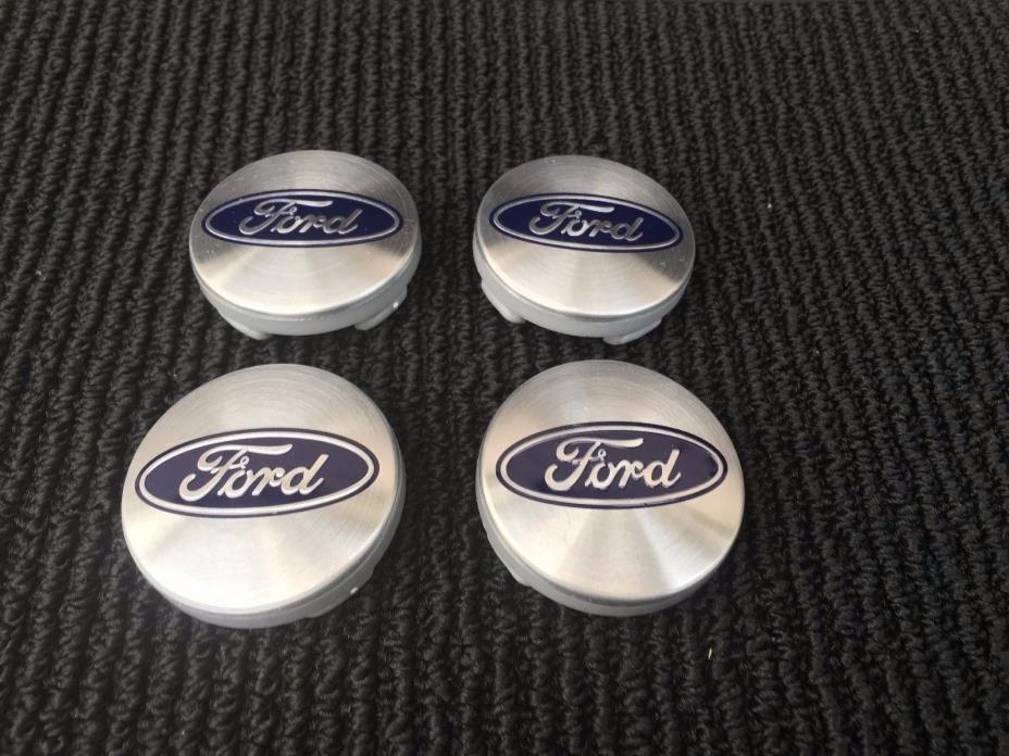 NEW-SET-OF-4-FORD-SILVER-CENTER-WHEEL-HUB-CAPS-EMBLEM-COVER-LOGO-CP9C-1A096-AA