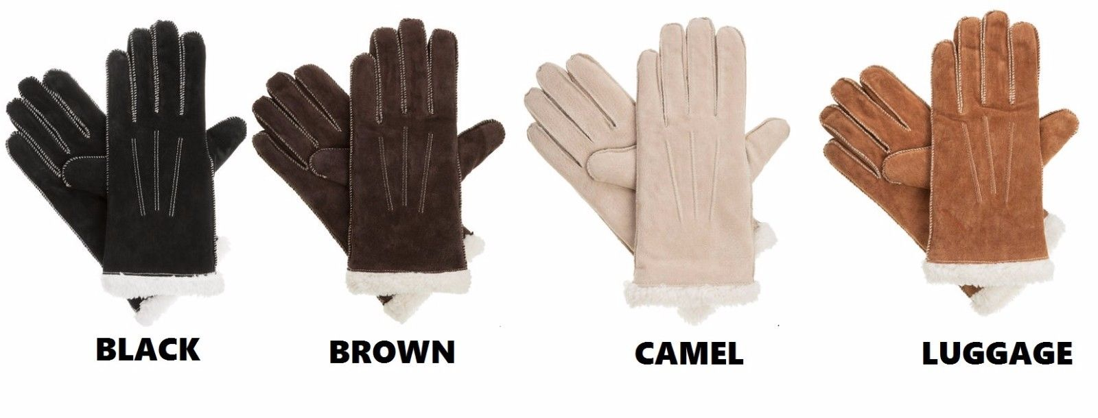 NEW $40 isotoner Signature Women's Suede Moccasin Stitch Gloves: *Multi Choices*