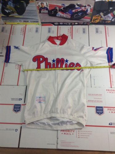 Vomax Mens Size Small S Club Cycling Jersey Phillies (3529)