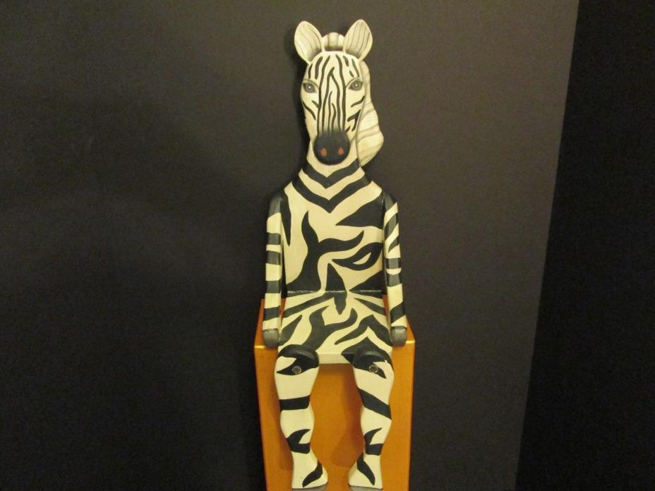 Safari Zebra-Shaped Wood Shelf, Nursery Decor
