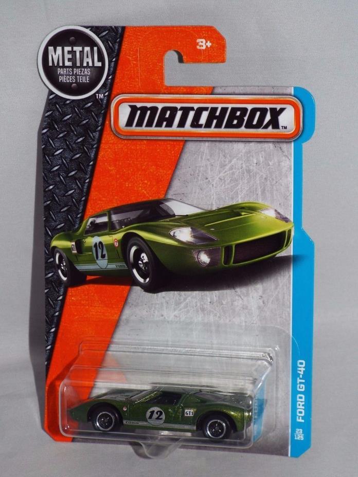 Matchbox Diecast 2017 Series #23 Ford GT-40 Green