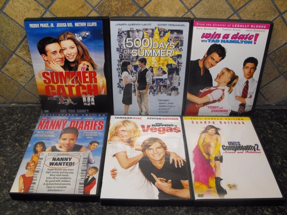 12 Lot Bundle DVDs ~ Rom-Coms ~ Date/Wedding Binge-Fest! ~