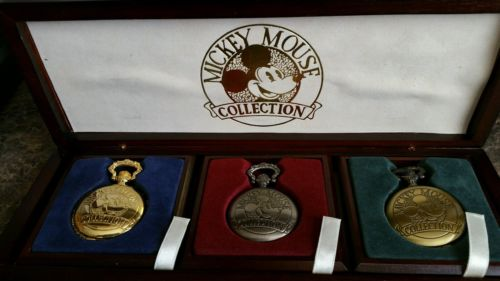 Collectible Mickey Mouse (3)  Pocket Watches Limited Edition... Numbered Set