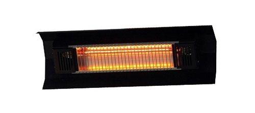 Weatherproof Patio Heater Infrared Wall Mounted Black Electric 1500 Watt Lamp